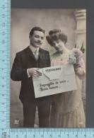 CPA Fantaisie Femme - Couple, Telegramme, Impossible De Venir, Bon Baiser -  ED: MF 929 - Femmes