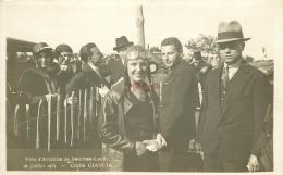 WW 71 BOURBON LANCY. Fête De L'Aviation Avec Maryse Bastié Femme Pilote. Photo Carte Postale Rare 1931 - Autres Communes