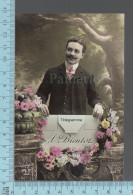 CPA Fantaisie Homme -  Telegramme, À Bientôt -  ED: MF 927 - Hommes