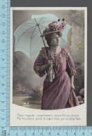 CPA Fantaisie Femme - Roses, Parapluie  Doux Regards....  -  ED: MF Paris 2128 - Femmes