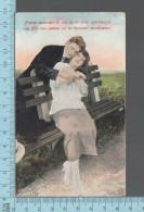 CPA Fantaisie Couple  - Homme Femme Banc  -  ED: Sans Nom 225 - Femmes