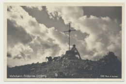 AK  Wanderer Rast Watzmann Südspitze 1933 - Berchtesgaden