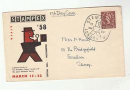 1959 GB STAMPEX Event COVER National Stamp Exhibition  Stamps Philatelic Exhibition - Esposizioni Filateliche