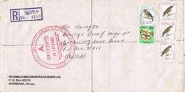 29567. Carta Aerea Certificada MOMBASA (Kenya) 1993 To Nairobi - Kenia (1963-...)