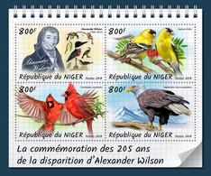 NIGER 2018 - Alexander Wilson, Birds. Official Issue - Songbirds & Tree Dwellers