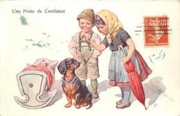 CHIEN TECKEL ICH UNE POSTE DE CONFIANCE - Dogs