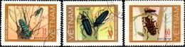 "Socialist Republic Of Vietnam 1977 ""Long-horned Beetles"" 3v ( Incomplete ) Quality:100% - Vietnam"