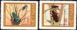 "Socialist Republic Of Vietnam 1977 ""Long-horned Beetles"" 2v ( Incomplete ) Quality:100% - Vietnam"
