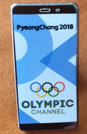 Pyeong Chang 2018.OLYMPIC CHANNEL Olympic Official Broadcaster, Special Pin,  In Its Original Packaging - Jeux Olympiques