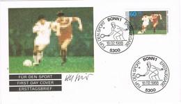 29571. Carta F.D.C. BONN (Alemania Federal) 1988. Sport, Tennis, Futbol - [7] República Federal