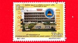 ETIOPIA - Usato - 2016 (2015) - 70 Anni Della Biblioteca Nazionale - Archives And Library Agency - 3 - Etiopia