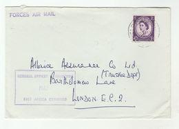 BRITISH FORCES EAST AFRICA COMMAND BFPO 10 Airmail COVER To GB Stamps  Kenya? - Kenya, Uganda & Tanganyika