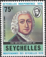 SEYCHELLES 1976 Independence - 75c - Chevalier Queau De Quincy MH - Seychelles (1976-...)