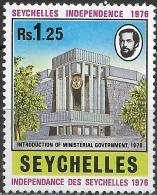 SEYCHELLES 1976 Independence - 1r.25 - Legislative Building MH - Seychelles (1976-...)