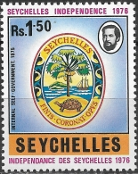 SEYCHELLES 1976 Independence - 1r.50 - Seychelles Badge MH - Seychelles (1976-...)