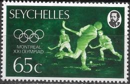 SEYCHELLES 1976 Olympic Games, Montreal - 65c. Hockey MH - Seychelles (1976-...)