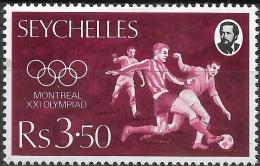 SEYCHELLES 1976 Olympic Games, Montreal -3r.50, Football MH - Seychelles (1976-...)