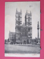 London - Westminster Abbey And Memorial - CPA 1907 - Scans Recto-verso - Westminster Abbey