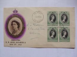 TRINIDAD & TOBAGO - 1953 Coronation FDC - Trinidad & Tobago (...-1961)