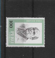 PERU 1982, JORGE BASADRE, HISTORIAN, J. TELLO, ARCHAEOLOGIST 2 Values Complete MINT NH - Peru
