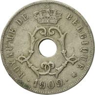 Monnaie, Belgique, 25 Centimes, 1909, TB+, Copper-nickel, KM:62 - 1865-1909: Leopold II