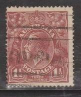 AUSTRALIA Scott # 24 Used - KGV Head - 1913-36 George V : Têtes