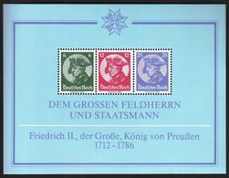 Germany 1983 / Faksimile / Friedrich II, Der Grosse, König Von Preussen / Frederick II, The Great, King Of Prussia - [7] Federal Republic