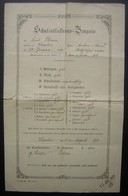 1912 Diplôme Allemand Attribué à Karl Plönes  Né En 1899  Cachet De 1917 - Diplômes & Bulletins Scolaires