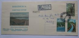 RHODESIA  - 1965 Water Conservation FDC Registered Salisbury - Rhodesien (1964-1980)