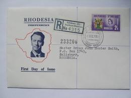 RHODESIA - 1965 Independence FDC Registered Salisbury - Rhodesië (1964-1980)