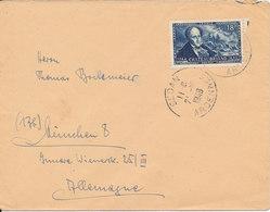 France Cover Sent To Germany Sedan 21-12-1948 Single Franked - France