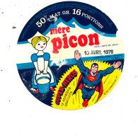 S  608- ETIQUETTE -  MERE PICON 16 PORTIONS  SUPER HEROS - Käse