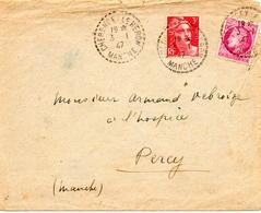 1947 - 3 Janvier, (premier Jour De Tarif) - Mazelin 679 , Gandon 716 - Enveloppe Entière  (V375) - Postmark Collection (Covers)