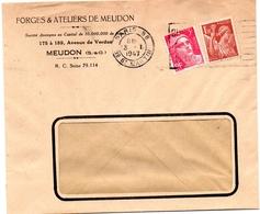 1947 - 3 Janvier, (premier Jour De Tarif) - Mazelin 679 , Gandon 716 - Enveloppe Entière  (V373) - Postmark Collection (Covers)