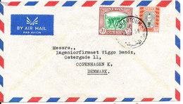 Sudan Air Mail Cover Sent To Denmark 3-2-1956 - Sudan (1954-...)