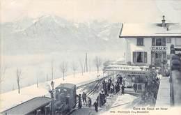 CPA  Suisse, Gare De CAUX, En Hiver, 1909 - VD Vaud