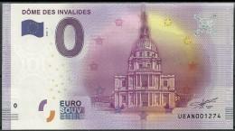 Billet Touristique 0 Euro 2016   Dôme Des Invalides - EURO