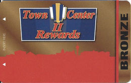 Town Center Lounge II - Las Vegas NV - BLANK Players Club / Slot Card - Casino Cards