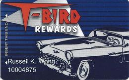 T-Bird Lounge - Las Vegas NV - Players Club / Casino Slot Card - Casino Cards