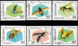 """Socialist Republic Of Vietnam 1982 """"Hymenoptera Insects"""" 6v ( Incomplete ) Quality:100% - Vietnam"""