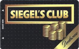 Siegel Slots & Suites Las Vegas, NV - BLANK Siegel's PENTHOUSE Club Card / Slot Card - Casino Cards