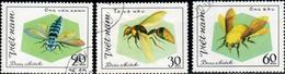 """Socialist Republic Of Vietnam 1982 """"Hymenoptera Insects"""" 3v ( Incomplete ) Quality:100% - Vietnam"""