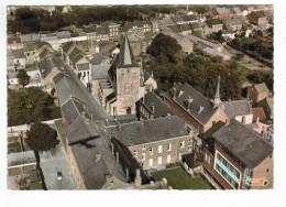 22136   CPM   HANNUT  : Vue Aérienne , L' Eglise Et Ecole Du Sacré Coeur ! Superbe Carte Photo ! ACHAT DIRECT !! - Hannut
