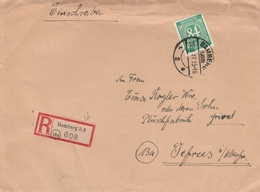Allemagne Zone AAS Lettre Recommandée Bamberg 1947 - Zone AAS