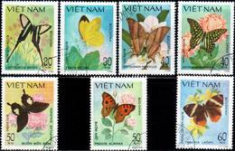 "Socialist Republic Of Vietnam 1983 ""Butterflies""  7v (incomplete) Quality:100% - Vietnam"