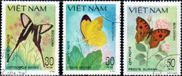 "Socialist Republic Of Vietnam 1983 ""Butterflies""  3v (incomplete) Quality:100% - Vietnam"