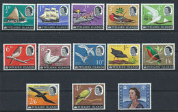 Pitcairn N°38/49A** (MNH) 1964/65 - Oiseaux, Bateaux, Reine - Timbres