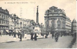 Bruxelles - Brussel - Place De Brouckère - Marktpleinen, Pleinen