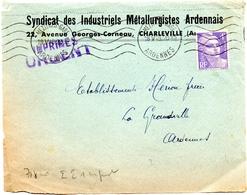 "1948 - Imprimés ""urgent"" -, Gandon 718- Devant D'enveloppe   (V401) - Postal Rates"