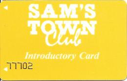 Sam's Town Casino - Las Vegas NV -  Introductory Slot Card - Casino Cards